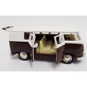 Miniatura Volkwagen Kombi 1962 Marron Escala 1:32 Rmz