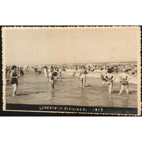 Cartão Postal Antigo Tramandai Rs Praia 1953