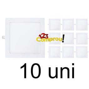 Kit 10 Painel Plafon Luminária 25w Led Quadrado Embutir