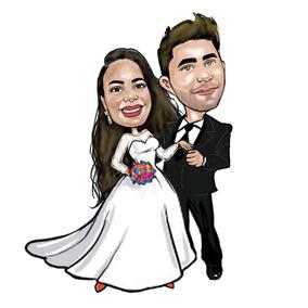 Caricatura Digital Colorida Promoçao R$58p/casal Promoçao