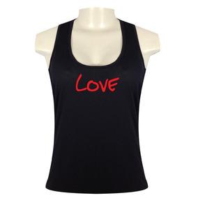 Regata Nadador Feminina Preta Dry Fit 100% Poliamida-love 5f678006e3faf