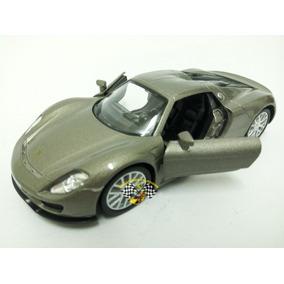 Miniatura Porsche Spyder 918 Prata Chumbo Rmz 1:32