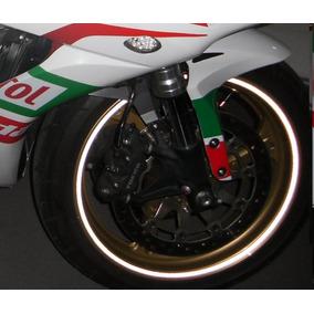 Adesivo Friso De Roda Branco Refletivo Moto E Carro