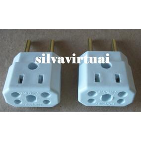 2 Pino Adaptador Eletrico Universal Tio Bob 10 / 20 A