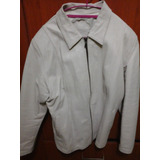 Jacket De Cuero Ecuatoriano Para Dama Color Blanco