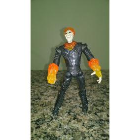 Boneco Motoqueiro Fantasma Ghost Rider Primeira Tiragem Raro