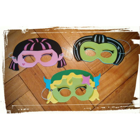Antifaz Souvenir Infantil Goma Eva Monster-high X 10