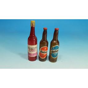 Cerveza Quilmes 3 Botellitas Plasticas De Publicidad 1960