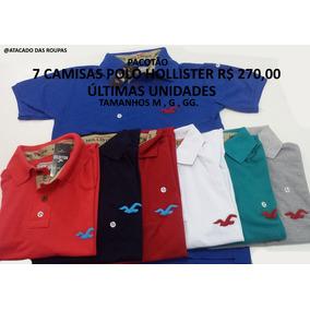 7 Camisas Polo Da Hollister Diversas Cores (pacotão) 1df7b2abf26c9
