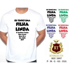 Camiseta Masculina T Shirt Personalizada Pai Filha Linda Camisetas