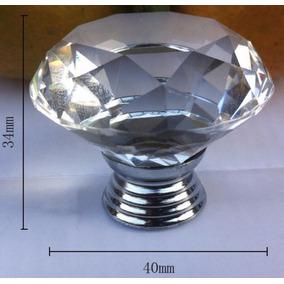 Puxador Cristal 5 Und Diamante Moveis 40mm Maçaneta Porta