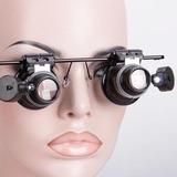 8359875f5441a Oculos Lente Aumento Lupa Duplo Aumento 20x Led Precisão no Mercado ...