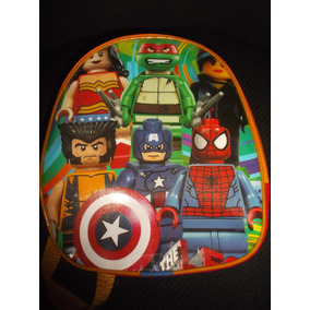 Lote 10 Mochilas Dulceros Lego Tortugas Ninja Capitan Americ