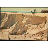 Cartão Postal Antigo Aracati Ceará Praia E Casa Jangadeiros