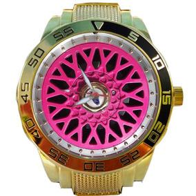 74fd4ba93d6 Relogio Dourado Bbs Rosa - Relógios De Pulso no Mercado Livre Brasil