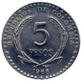 5 Pesos De Colombia - Congreso Eucaristico - 1968