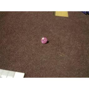 Magnifico Par De Diamante Ruso Rosa De 7 Mm Corte Redondo