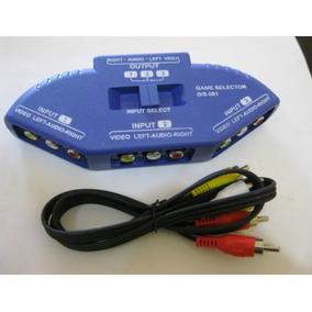 Switch Selector De Audio Y Video Rca 3 Entradas 1 Salida