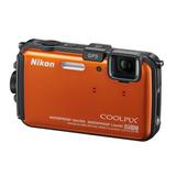 Nikon Coolpix Aw100 Naranja 16gb Cmos Waterproof Hd 1080p