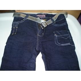 Lote :3 Pantalones Mezclilla Y 1 Short Juvenil Talla 16 Idd