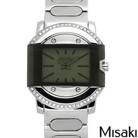 Reloj Misaki Para Damas, Acero Y Cristales