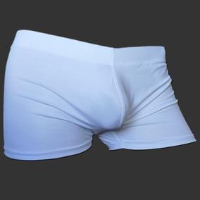Cueca Boxer Branca Com Bojo Frontal Cirre Sexlord Underwear