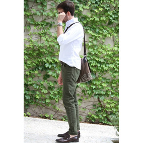 Argola Amarela Encoxada - Calças Masculino Verde musgo no Mercado ... d737bd741a8aa