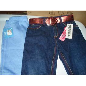 Conjunto Pans Azul Y Pantalon Mezclilla Talla 6 Vjr