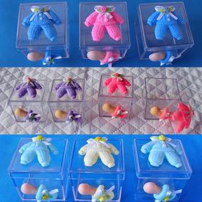 60 Lembrancinhas De Maternidade Em Caixinhas De Acrílico 5x5