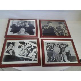 4 Quadros Com Fotos Antigas - Tema Cinema 24x28,5 Cm