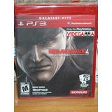 Metal Gear Solid 4 - 25 Aniversario Caratula Especial - Ps3