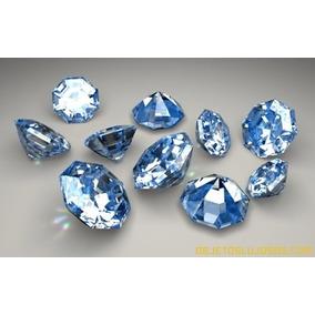 6 Diamantes Azules 100% Naturales
