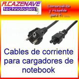 Cable De Poder 1.5m P/ Cargador De Notebook Schuko / Mickey