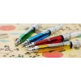 2 Bolígrafos C/forma Inyectadora Colores Variados