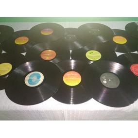 Disco De Vinil Decoração Artesanato Sem Capa Lote 15 Discos
