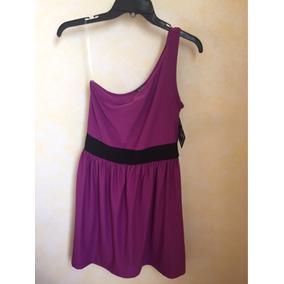 Vestido Corto De Un Tirante Color Violeta