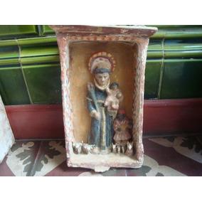 Antiguo Retablo San Antonio Niño Dios Arte Popular Criollo