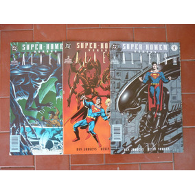 Super Homem Versus Alien+lanterna Verde E Surfista Prateado+