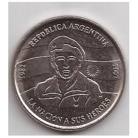 Malvinas Moneda 2 Pesos Año 2007 25 Aniversario Sin Circular