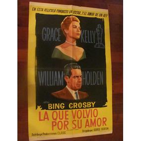 Afiche Antiguo Con Grace Kelly