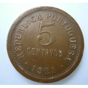 Moeda De Portugal - 5 Centavos 1921 Mbc