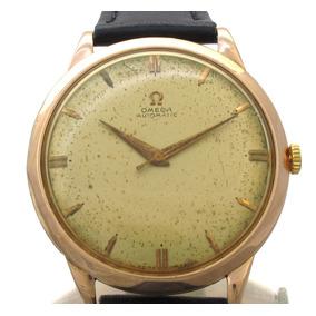 Omega Automático Mov Martelo Relógio Em Ouro Rose 18k J10856