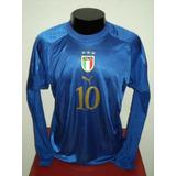 75da34db1c Camisa Italia Home 04-05 Ml Totti 10 Euro 2004 Importada