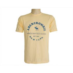 Camisa Abercrombie & Fitch Amarela E Azul Bebe