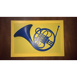 Quadro Trompa Azul (blue French Horn) - How I Met Your Mothe