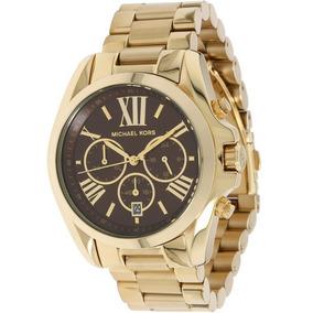 dda6b910a11c9 Relógio Michael Kors Mk5238 Marrom E Dourado Réplica - Relógios De ...