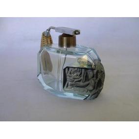 Perfumeiro Antigo Em Cristal Lapidado.