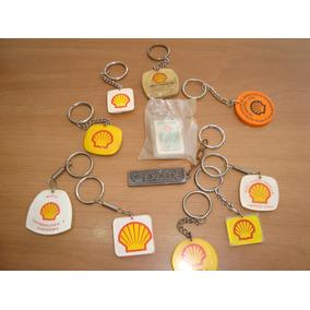 Lote De Chaveiros Antigos Shell