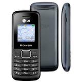 Celular Lg B220 Preto Dual Chip, Fm Rádio E Lanterna Led