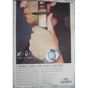 Propaganda Relógio Orient Publicação Revista Manchete.